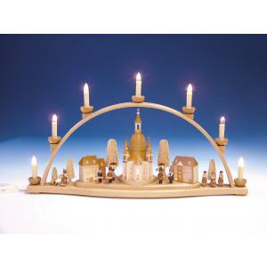 Schwibbogen Frauenkirche mit Innenbeleuchtung