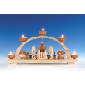 Schwibbogen mit Teelicht, Frauenkirche