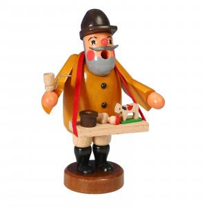 Räucherfigur Spielzeughändler mit Bauchladen