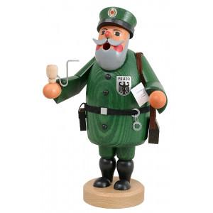 Räuchermännchen Polizist Wachtmeister grün