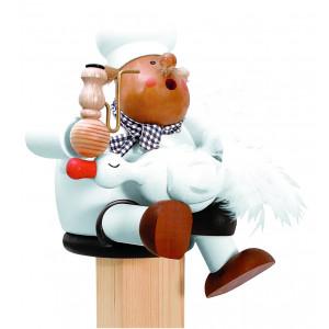 Räuchermännchen Kantenhocker Koch mit Gans, groß