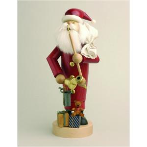 Räuchermännchen Weihnachtsmann mit Geschenken