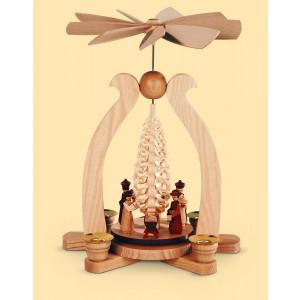 Bogenpyramide mit Spanbaum Christi Geburt