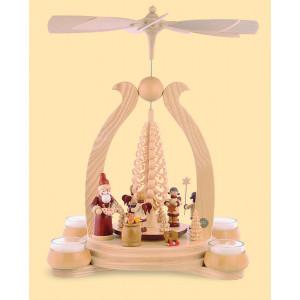 Teelicht-Bogenpyramide Bescherung