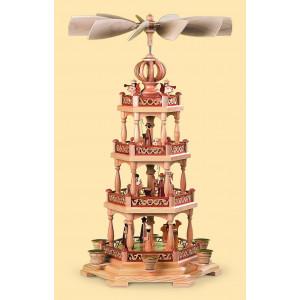 Pyramide Heilige Geschichte mit Engel, 3-stöckig