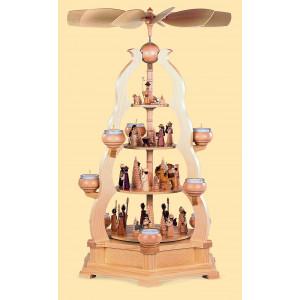 Teelicht-Bogenpyramide Heilige Geschichte, 4-stöckig