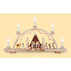 Schwibbogen Christi Geburt mit Krippe
