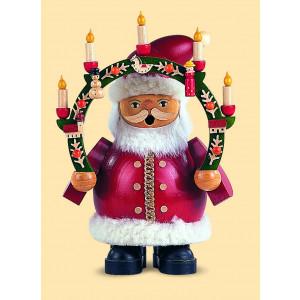 Müller Räuchermännchen Weihnachtsmann mit Kerzenbogen