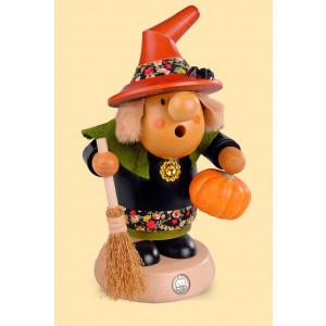 Müller Räuchermännchen Müllerchen Halloween Hexe mit Kürbis
