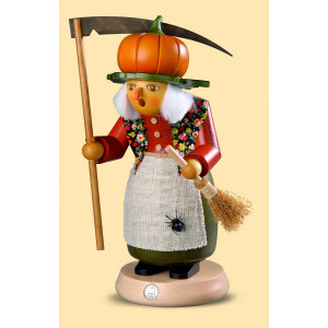 Müller Räuchermännchen Halloween Hexe mit Kürbis