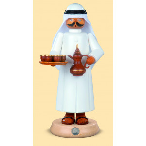 Müller Räuchermännchen Araber mit rauchender Kaffeekanne und 7 Tassen
