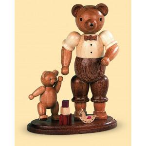Bärenvater mit spielendem Kind