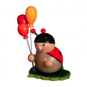 Marienkäfer mit Luftballon