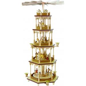 Pyramide Christi Geburt 4-stöckig