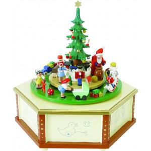 Spieldose mit Weihnachtsbescherung