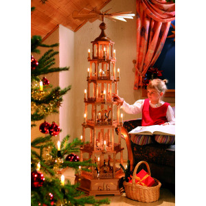 Pyramide 6-stöckig Christi Geburt, elektrisch