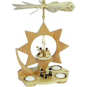 Teelichtpyramide Stern, Kurrende mit Kirchdorf
