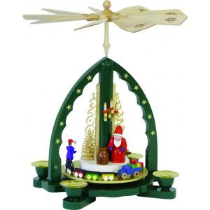 Pyramide Weihnachtsmann, grün