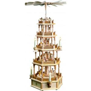 Pyramide Christi Geburt 4-stöckig, elektrisch