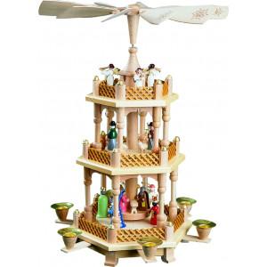 Pyramide Christi Geburt 2-stöckig, bunt