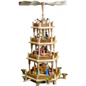 Pyramide Christi Geburt, 3-stöckig, bunt