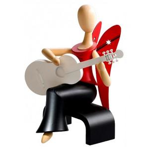 Sternkopf-Engel mit Gitarre sitzend