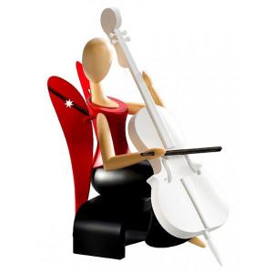 Sternkopf-Engel mit Cello sitzend