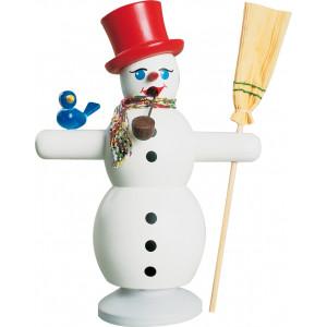 Räuchermann Schneemann mit rotem Hut