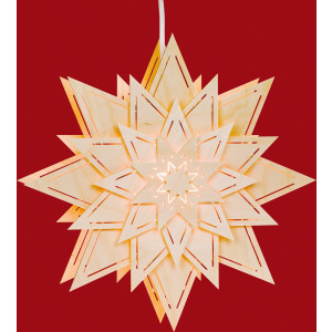 Fensterbild Stern mit Lichtschlitze Blume