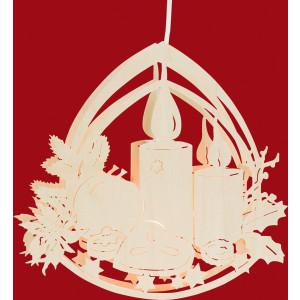 Fensterbild Motiv Adventsschale