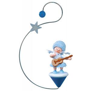 Baumbehang Schneeflöckchen mit Gitarre