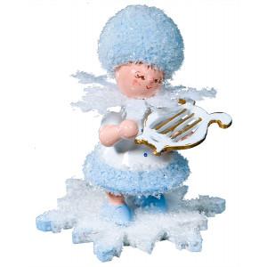 Schneeflöckchen mit kleiner Harfe