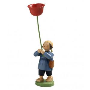 Junge mit Mohnblume