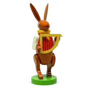 Hasenmusikant mit Harfe