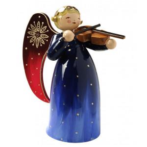 Engel mit Violine reich bemalt