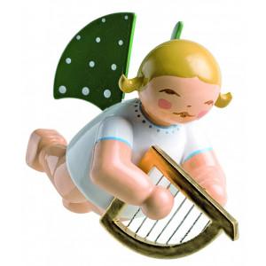 Engel mit kleiner Harfe schwebend