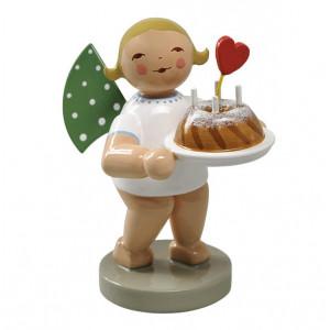 Engel mit Kuchen und Herz