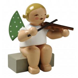 Engel mit Geige sitzend