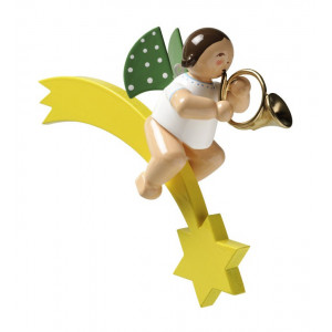 Engel mit Waldhorn auf Komet