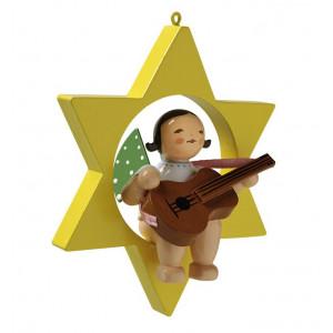 Engel mit Gitarre im Stern
