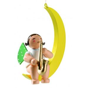 Engel mit Saxophon im Mond