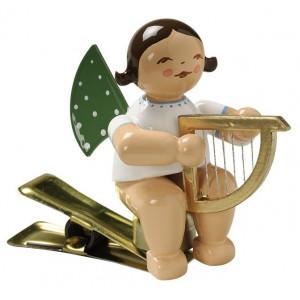 Engel mit Harfe auf Klemme