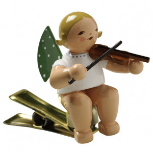Engel mit Geige auf Klemme