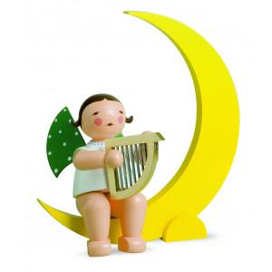 Engel mit Harfe im Mond, gross