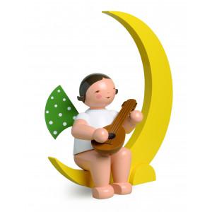 Engel mit Mandoline im Mond, gross