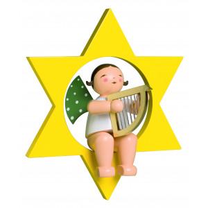 Engel mit Harfe im Stern, gross