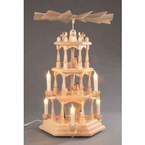 Pyramide Christi Geburt 4 Etagen elektrisch