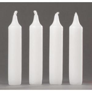 Pyramidenkerzen weiß, 4 Stück, 20,5 mm
