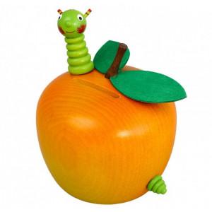 Spardose Apfel mit Wurm