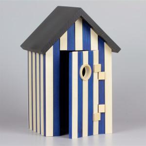Badehaus für Frösche, blau